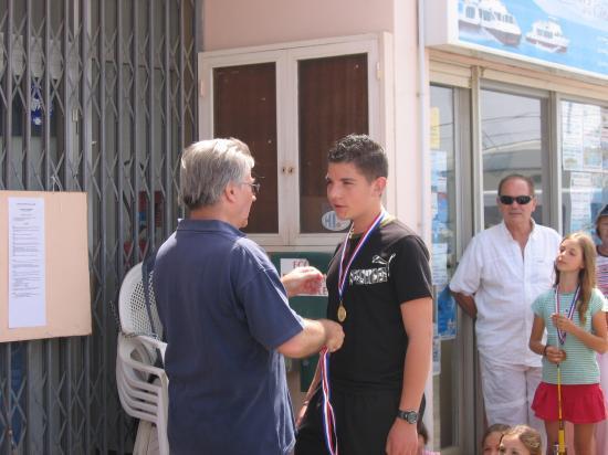 Remise de medaille a Stephane